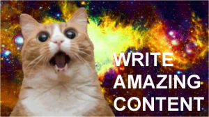 Some people think that content marketing is ONLY amazing content